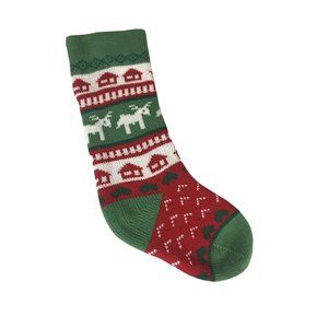 """CLASSIC Knit Reindeer Large 20"""" Christmas Stocking Red, Green, & White 224"""